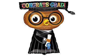 Foil Congrats Grad Owl Graduation Balloon 26in