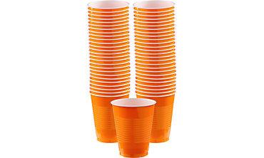 Orange Plastic Cups 16oz 50ct