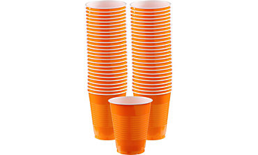Orange Plastic Cups 16oz 50ct