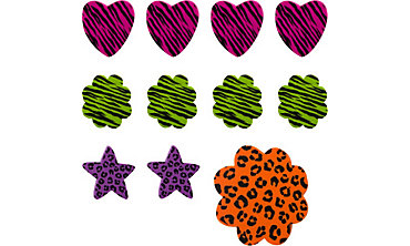Animal Print Erasers 48ct