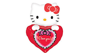 Hello Kitty I Love You Balloon