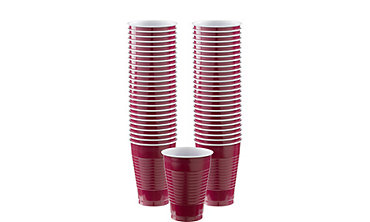 Berry Plastic Cups 12oz 50ct
