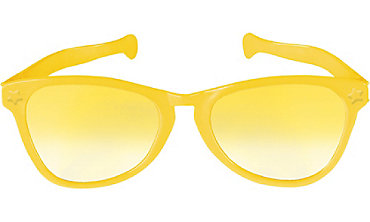 Yellow Giant Fun Glasses 11in