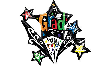 Foil Starburst Graduation Balloon 37in