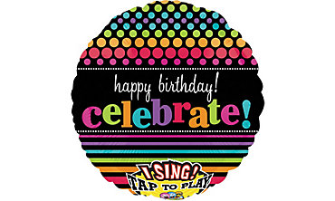 Foil Party On Happy Birthday Singing Balloon 28in