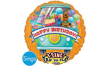 Foil Scooby Doo Happy Birthday Singing Balloon 28in