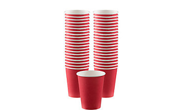 Red Paper Coffee Cups 12oz 40ct