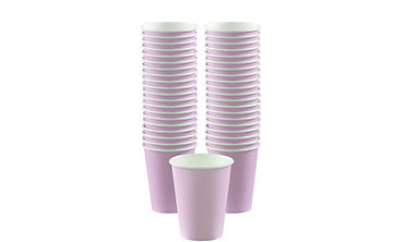 Lavender Paper Coffee Cups 12oz 40ct