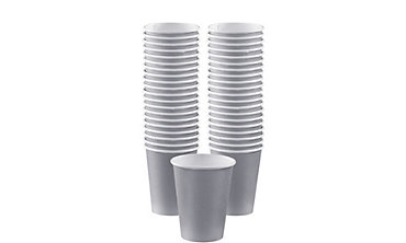 BOGO Silver Paper Coffee Cups 12oz 40ct