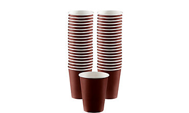 Chocolate Brown Paper Coffee Cups 40ct