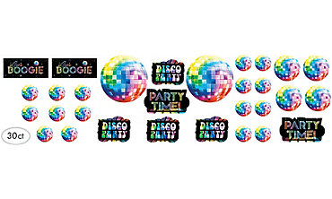 Disco Fever Cutouts 30ct