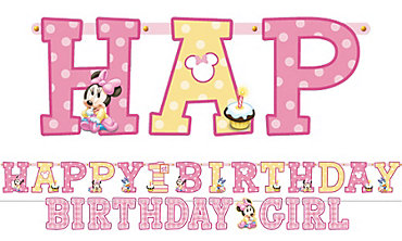 Minnie Mouse 1st Birthday Banners 2ct