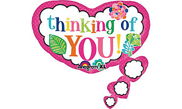 Foil Thinking of You Balloon 30in x 32in