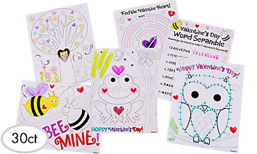 Valentine's Day Activity Sheets 30ct