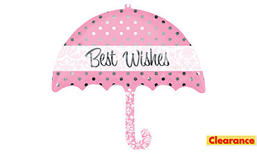 Best Wishes Balloon - Umbrella