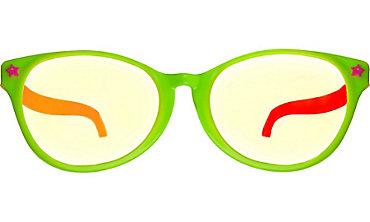 Black Light Neon Fun Glasses