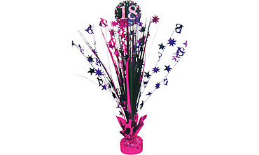 Prismatic 18th Birthday Spray Centerpiece - Pink Sparkling Celebration
