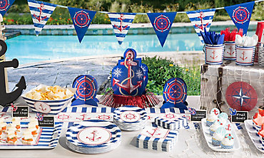Striped Nautical Decorations