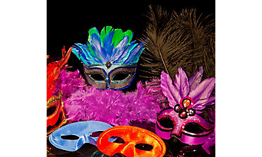 Bright Colors Masks & Boas
