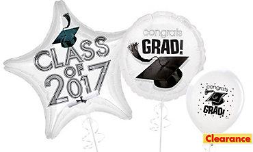 White Graduation Balloons