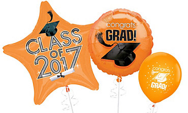 Orange Graduation Balloons
