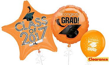 Orange Graduation Balloons