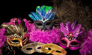 New Year's Eve Masks & Boas