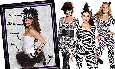 Zebra Cutie Mix & Match Women's Looks