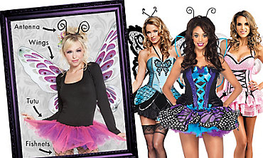 Butterfly Beauty Mix & Match Women's Looks