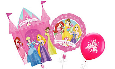 Disney Princess 1st Birthday Balloons