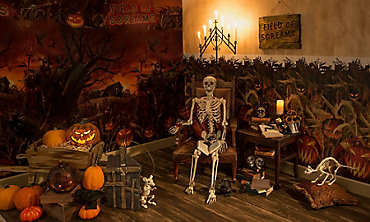 scary pumpkin halloween decorations