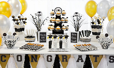 Black, Gold & Silver Graduation Baking Supplies