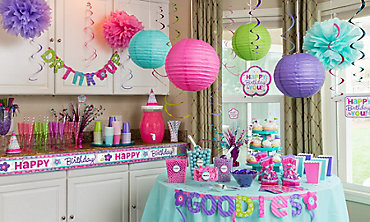 Decorations for adult birthday party city for Accessoires de decoration