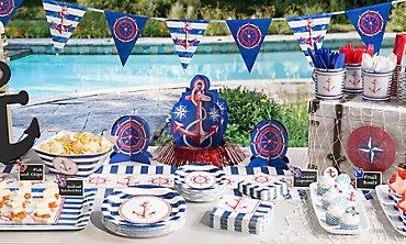 Striped Nautical Theme Party