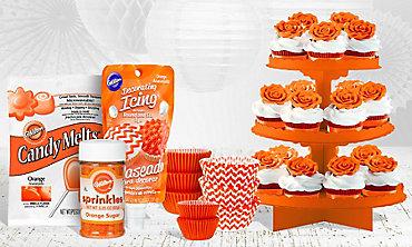Orange Baking Supplies