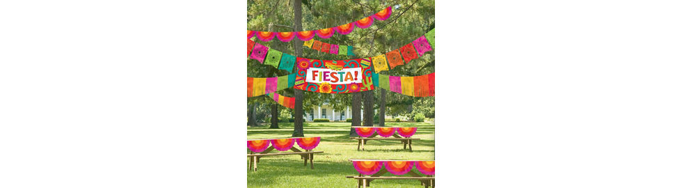 bright fiesta theme party supplies party city - Fiesta Decorations