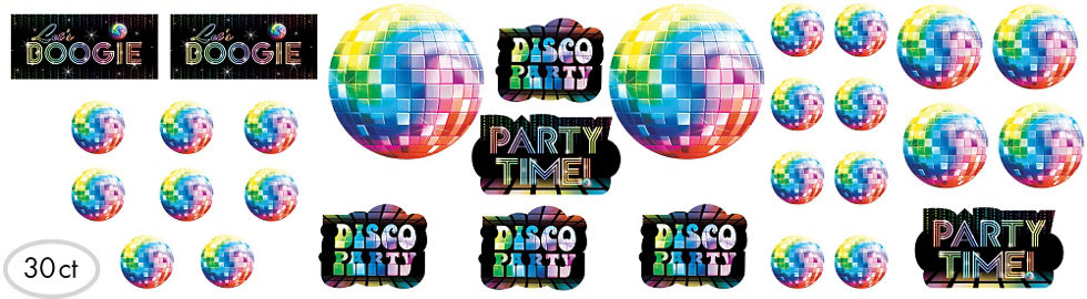quick shop disco 70s cutouts 30ct cardstock decorations - Disco Party Decorations