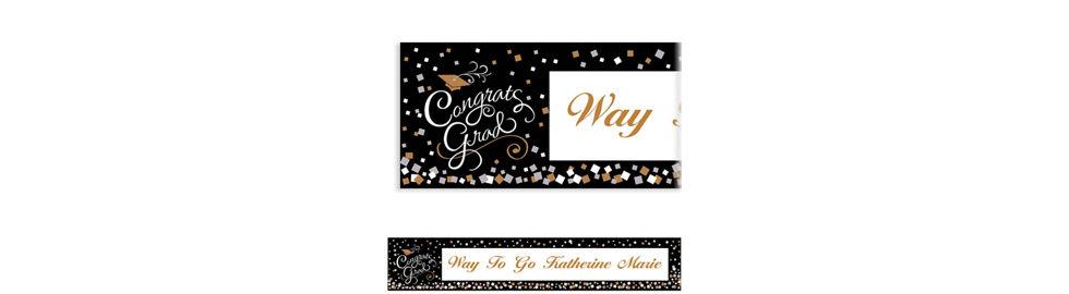 custom congrats graduation invitations thank you notes party city. Black Bedroom Furniture Sets. Home Design Ideas