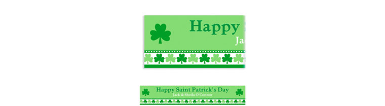 Custom Lucky Shamrocks Banner 6ft