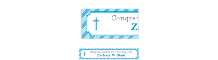 Custom Simple Cross and Stripes Banner