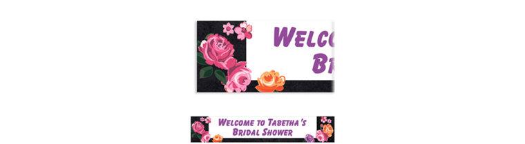 Custom Nouveau Floral Banner