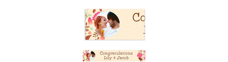 Custom Floral Wreath Photo Banner