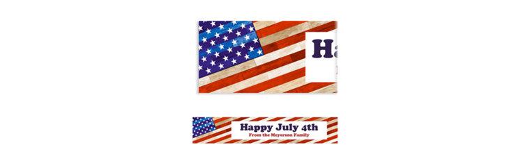 Custom Rustic Americana Banner