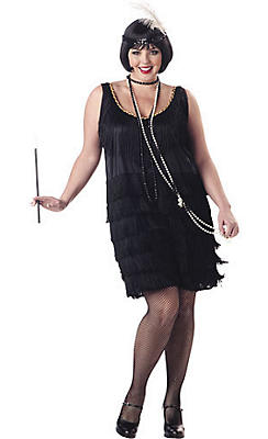 Adult Fashion Flapper Costume Plus Size