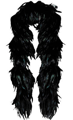 Black Fantasy Feather Boa Deluxe 72in