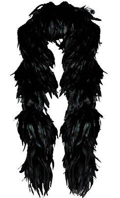 Black Fantasy Feather Boa Deluxe 72in