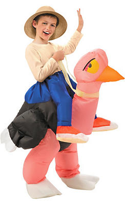 Boys Inflatable Illusion Ostrich Costume