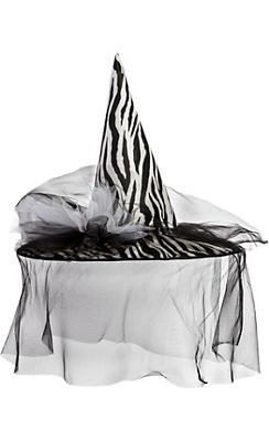 Zebra Witch Hat