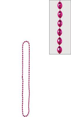 Metallic Pink Bead Necklace