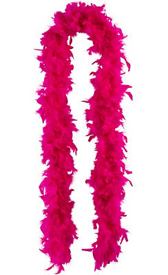 Fuchsia Feather Boa 72in